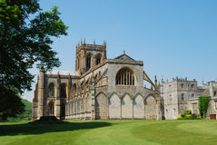 Milton Abbey & School. Milton Abbey and School with cricket pitch in Dorset England Stock Photos