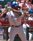 Milton Bradley. Chicago Cubs OF Milton Bradley batting against the Arizona Diamondbacks Stock Photos