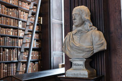 Milton bust in Trinity College Royalty Free Stock Photography