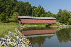 Milton Covered Bridge Royaltyfri Fotografi