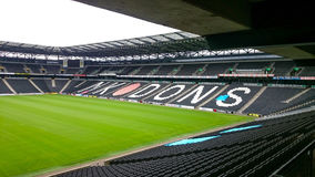 Milton Keynes Stadium. Inside the huge Milton Keynes sports stadium of the Dons Royalty Free Stock Photos