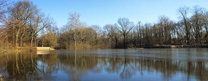 Milton Lake Reflection Royalty-vrije Stock Afbeelding