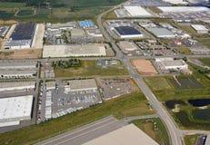 Milton Ontario industrial park. Industrial park aerial in Milton Ontario Canada Stock Images