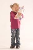 milutka dziewczyny pozytywu zabawka zdjęcia stock