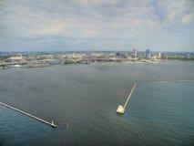 Milwaukee, Висконсин в лете трутнем стоковая фотография