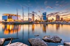 Milwaukee, Висконсин, горизонт США стоковые фотографии rf