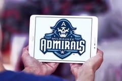 Milwaukee Admirals drużyny hokejowej lodowy logo Fotografia Stock