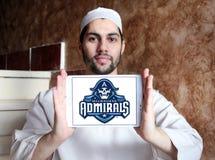 Milwaukee Admirals drużyny hokejowej lodowy logo Zdjęcia Stock