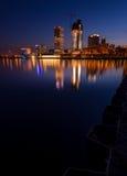 Milwaukee alla notte Immagini Stock Libere da Diritti