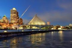 Milwaukee Art Museum at Night Royalty Free Stock Photos