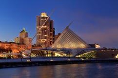 Milwaukee Art Museum at Night Royalty Free Stock Image