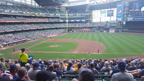 Milwaukee baseball. Brewers baseball game Stock Image