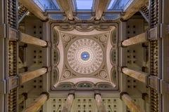 Milwaukee biblioteki publicznej lobby sufit Fotografia Stock