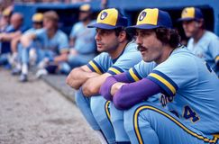 Rollie Fingers. Milwaukee Brewers Hall of Fame closer Rollie Fingers. Image taken from color slide stock photos