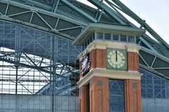 Milwaukee Brewers Miller Park Clock Tower at Noon stock image