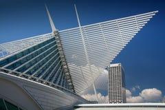 Milwaukee calatrava. Detail from the Milwaukee calatrava Stock Images