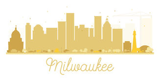 Milwaukee City skyline golden silhouette. Royalty Free Stock Image