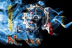 Milwaukee city smoke flag, Wisconsin State, United States Of America.  royalty free illustration