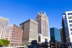Milwaukee da baixa Imagem de Stock Royalty Free