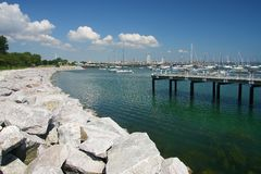 Milwaukee harbor Royalty Free Stock Photos