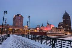 Milwaukee i vinter Fotografering för Bildbyråer