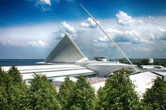 Milwaukee konstmusem på sjöframdelen Arkivfoto