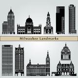 Milwaukee landmarks and monuments Royalty Free Stock Images