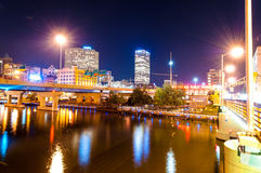 Milwaukee at Night Royalty Free Stock Photography