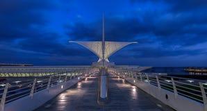 Milwaukee panorama- Art Museum Arkivfoton