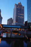 Milwaukee Riverwalk Photos libres de droits