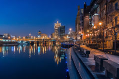 Milwaukee riverwalk Stock Photography