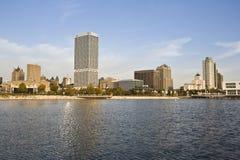 Milwaukee seen from Lake Michigan Stock Image