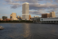 Milwaukee seen from Lakefront Royalty Free Stock Photography