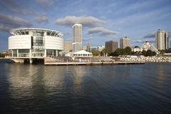 Milwaukee seen from Lakefront Royalty Free Stock Photo