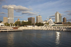 Milwaukee seen from Lakefront Royalty Free Stock Image