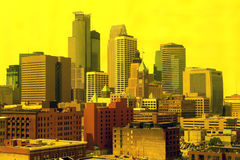 Milwaukee skyline. A picture of Milwaukee skyline through yellow filters Stock Photo