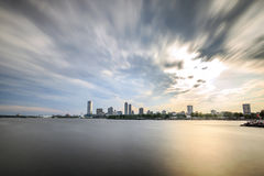 Milwaukee skyline, Wisconsin, USA. Milwaukee skyline at sunset, Wisconsin, USA Royalty Free Stock Photography