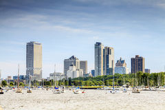 Milwaukee skyline, Wisconsin, USA royalty free stock images