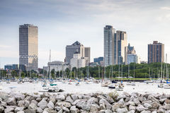 Milwaukee skyline, Wisconsin, USA Stock Photos