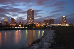 Milwaukee sunset panorama Royalty Free Stock Images