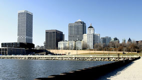 Milwaukee Waterfront Skyline Royalty Free Stock Image