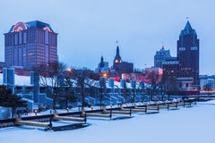 Milwaukee winter time. Milwaukee seen winter time. Milwaukee, Wisconsin, USA Royalty Free Stock Photography