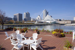 Milwaukee Wisconsin. Waterfront  on Lake Michigan Stock Photos