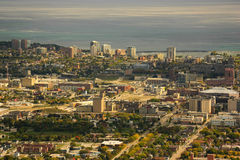Milwaukee Wisconsin. Aerial view of Milwaukee Wisconsin Stock Image