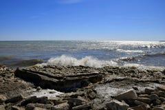 Milwaukee Wisconsin Lake Michigan fotografering för bildbyråer