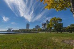 Milwaukee Wisconsin på en Sunny Day Arkivfoto