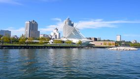 Milwaukee Wisconsin on a Sunny Day Time lapse stock footage