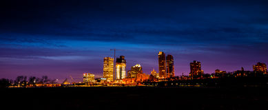 Milwaukee Wisconsin. USA downtown panorama at night Stock Photo