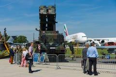 MIM-104爱国者是一个地对空导弹SAM系统 免版税库存图片