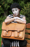 Mim and briefcase Stock Photography